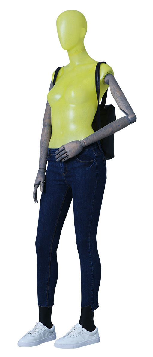 female transparent mannequin
