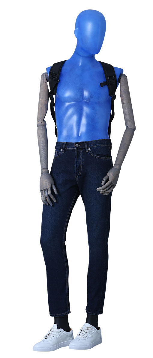 male transparent mannequin